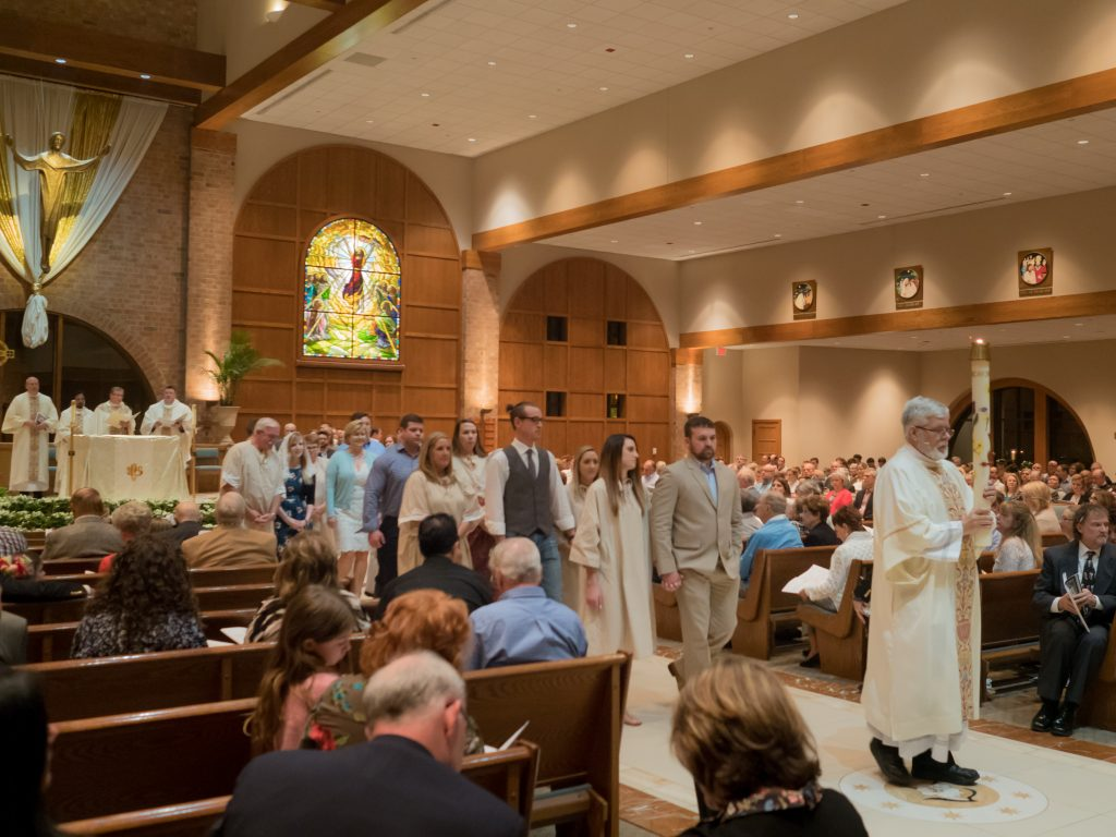RCIA Procession to Baptism