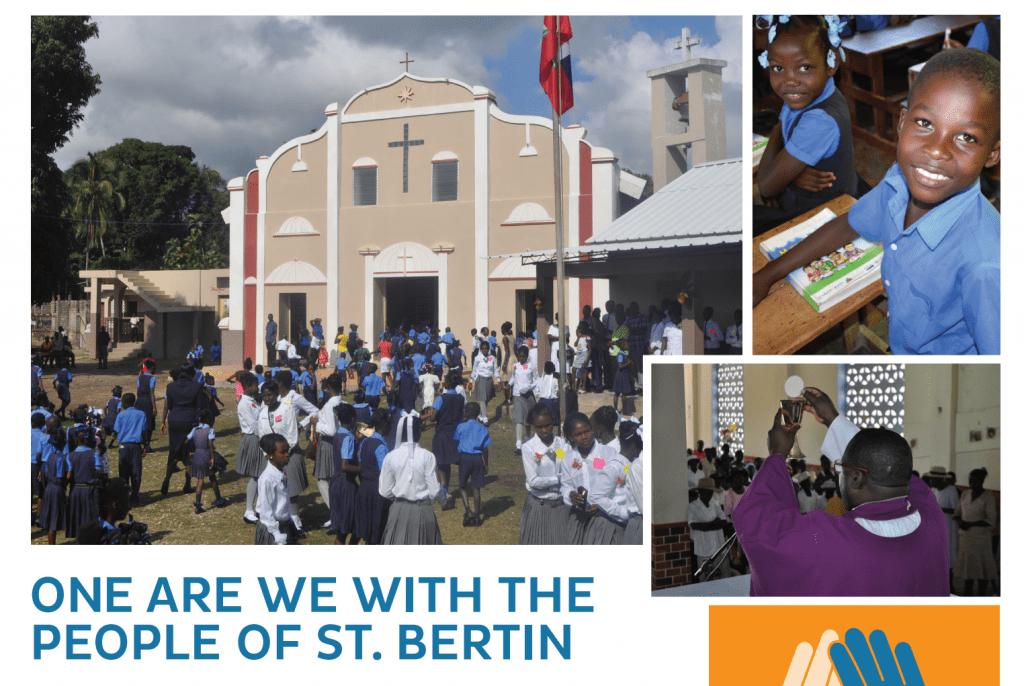 """One are We"" – Help us Rebuild St. Bertin Church"